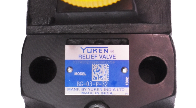 Yuken : Pressure relief valve